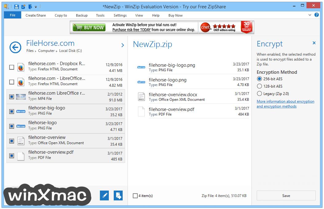 WinZip (32-bit) Screenshot 4