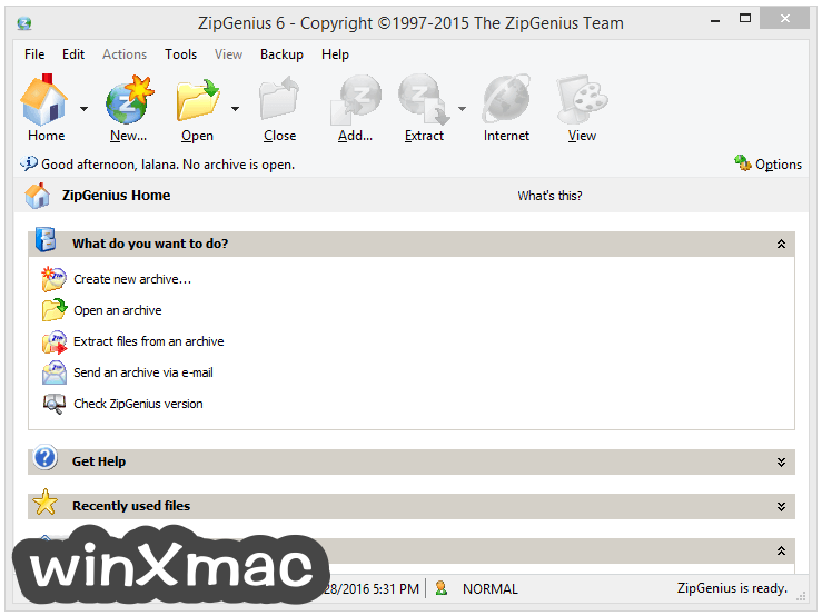 ZipGenius Screenshot 1