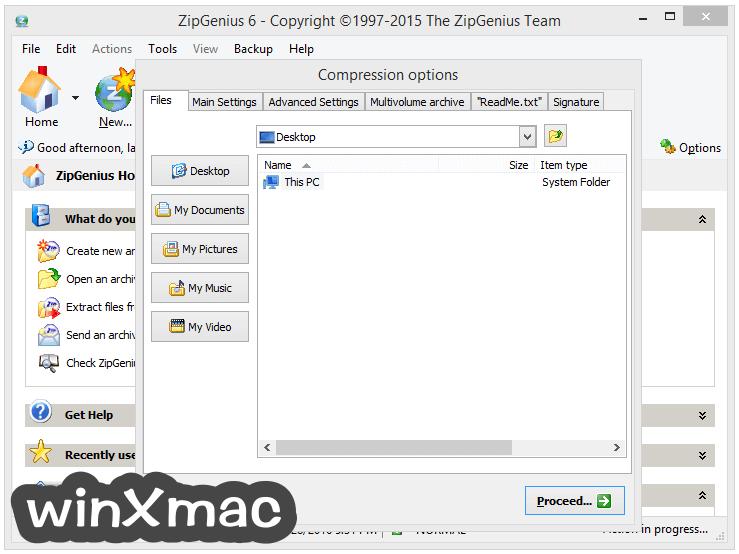 ZipGenius Screenshot 4