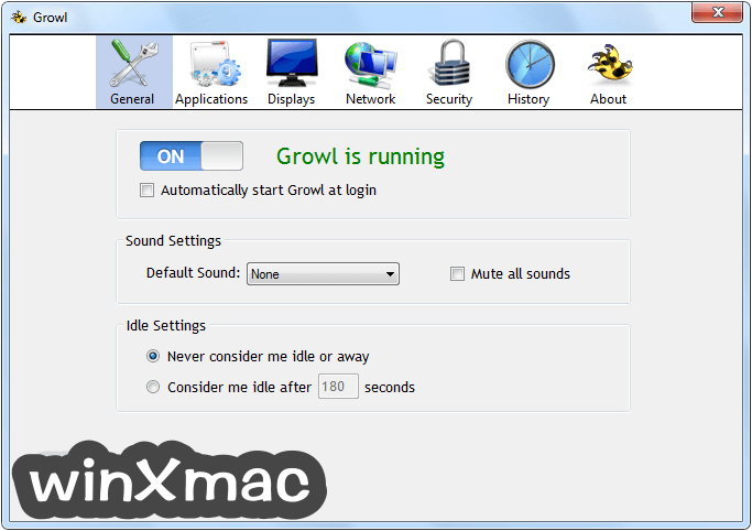 Growl for Windows Screenshot 1