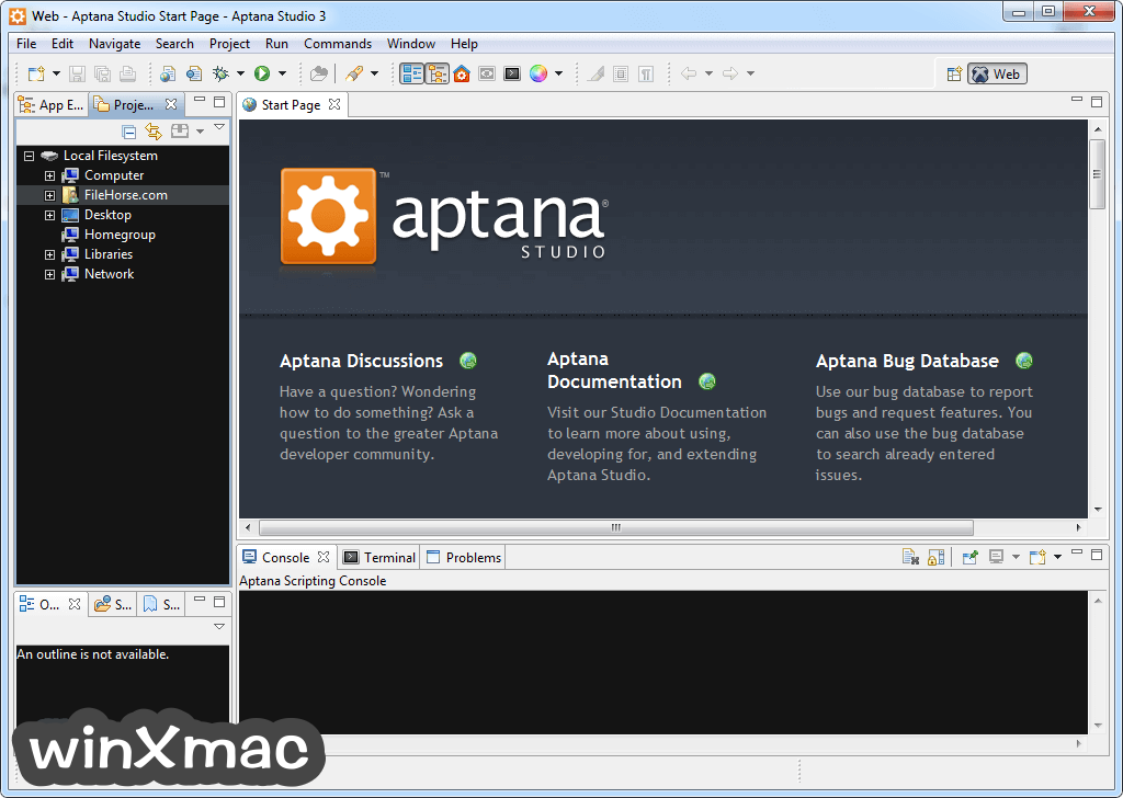 Aptana Studio Screenshot 1