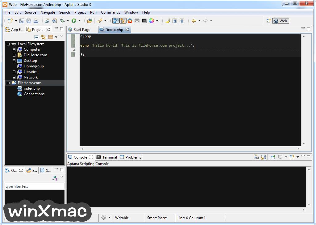Aptana Studio Screenshot 2