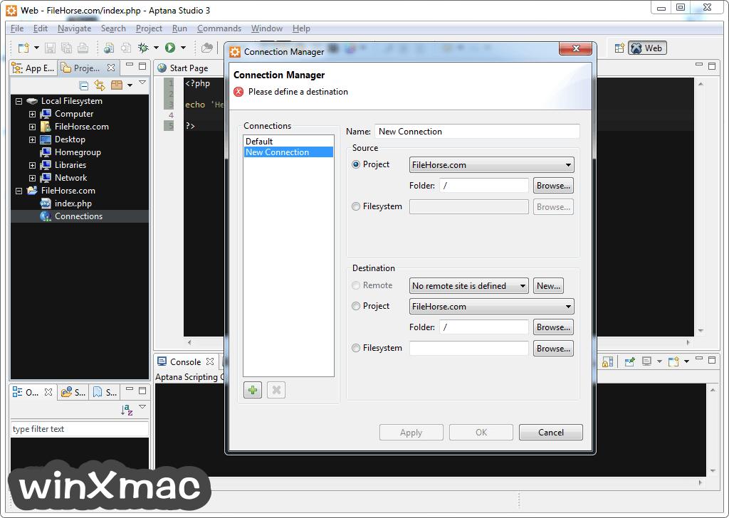 Aptana Studio Screenshot 3