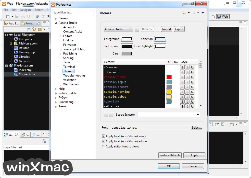 Aptana Studio Screenshot 5