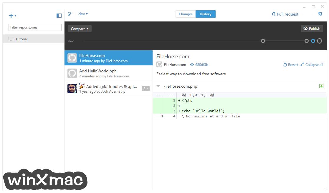 GitHub Desktop Screenshot 2
