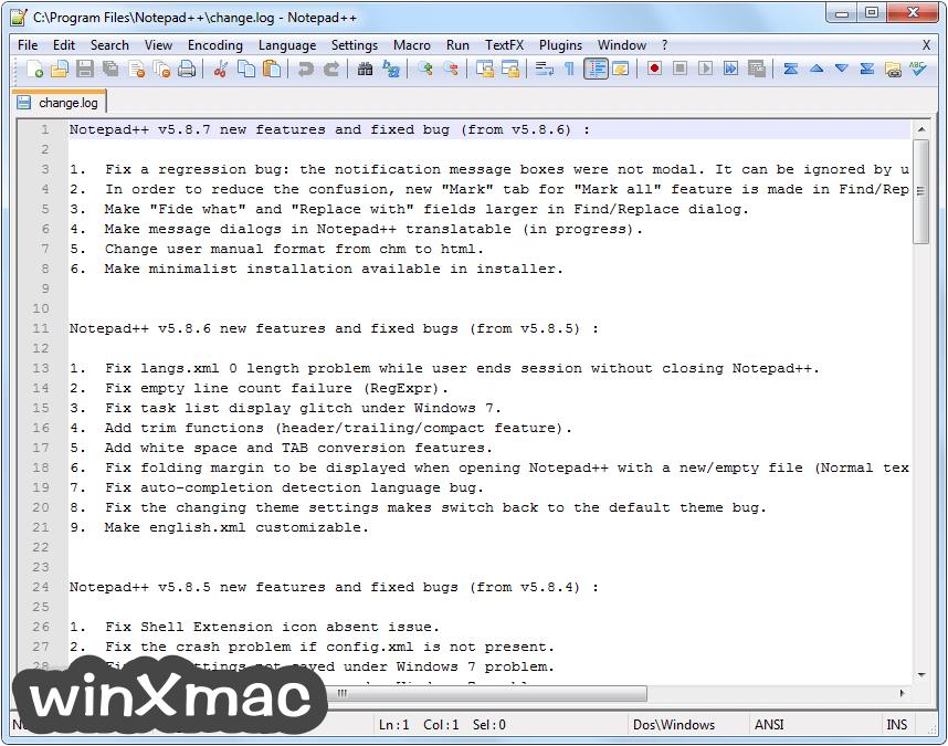Notepad++ (32-bit) Screenshot 1