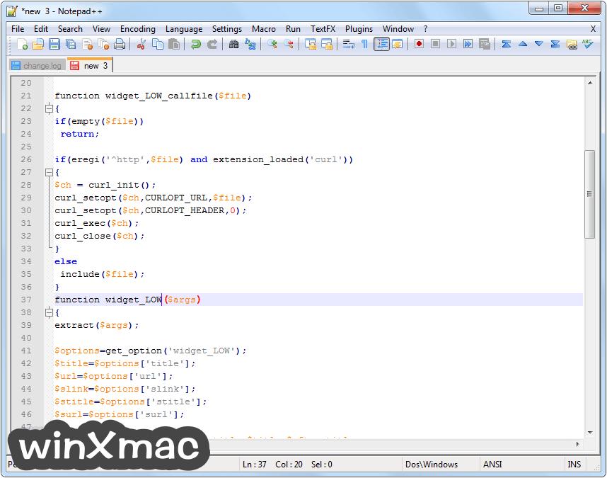 Notepad++ (32-bit) Screenshot 2