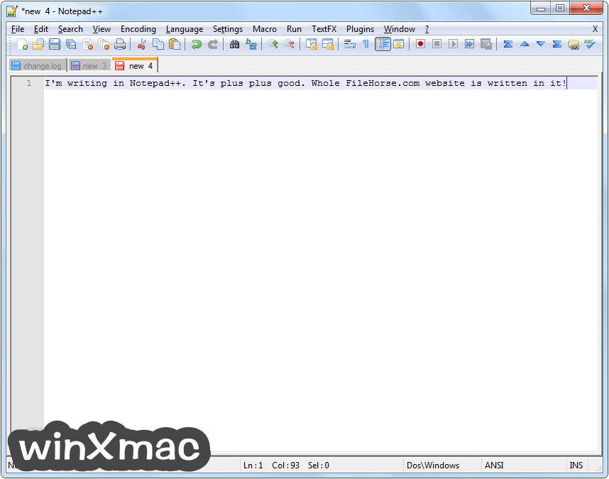 Notepad++ (32-bit) Screenshot 3