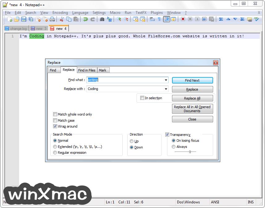 Notepad++ (32-bit) Screenshot 4