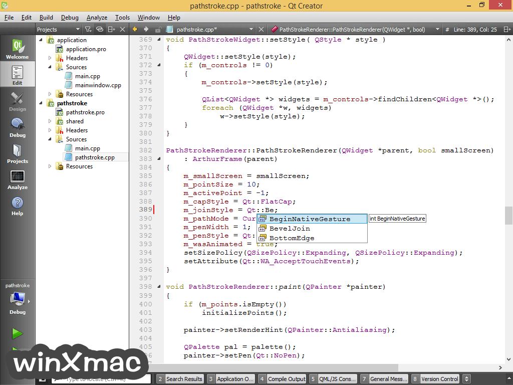 Qt Creator (64-bit) Screenshot 1