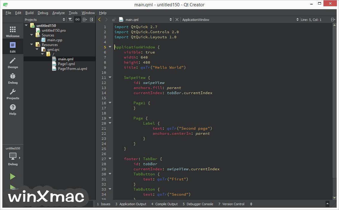 Qt Creator (64-bit) Screenshot 2