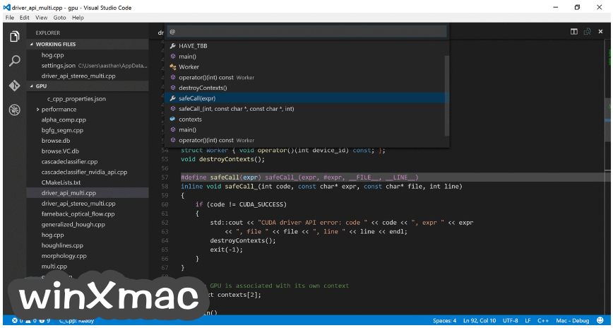 Visual Studio Code Screenshot 1