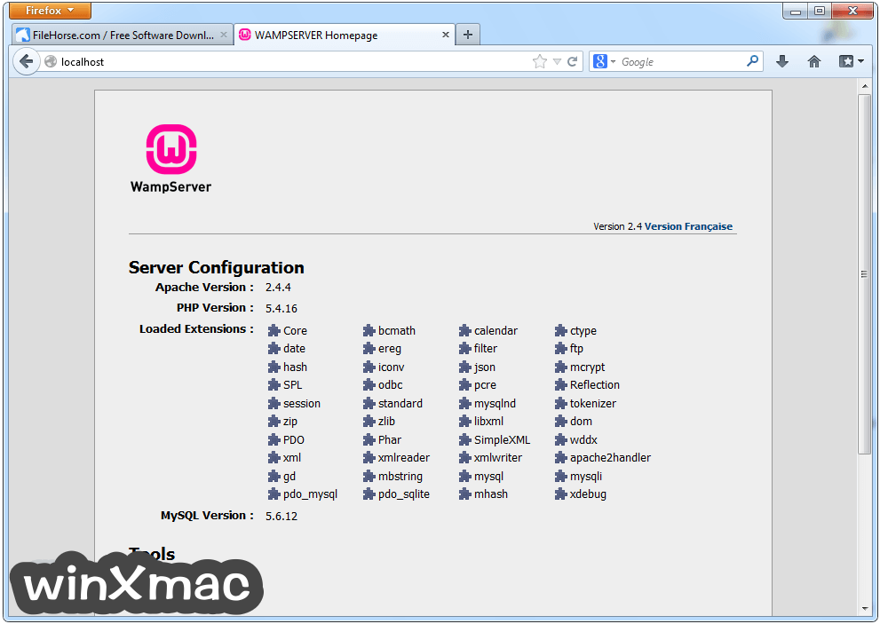WampServer (64-bit) Screenshot 1