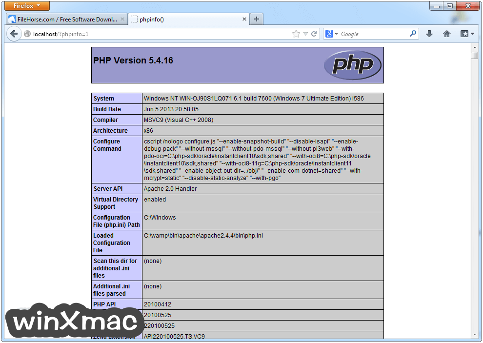 WampServer (64-bit) Screenshot 2