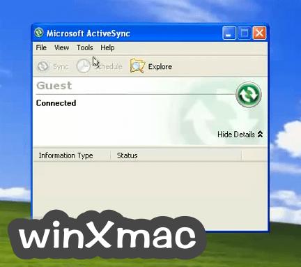 Microsoft ActiveSync Screenshot 2