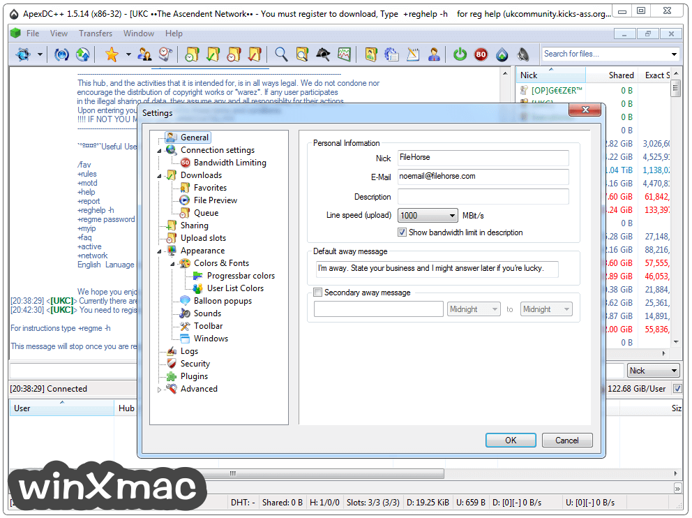 ApexDC++ Screenshot 2