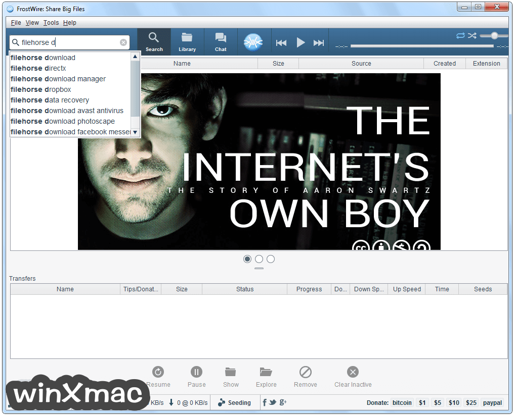 FrostWire Screenshot 1