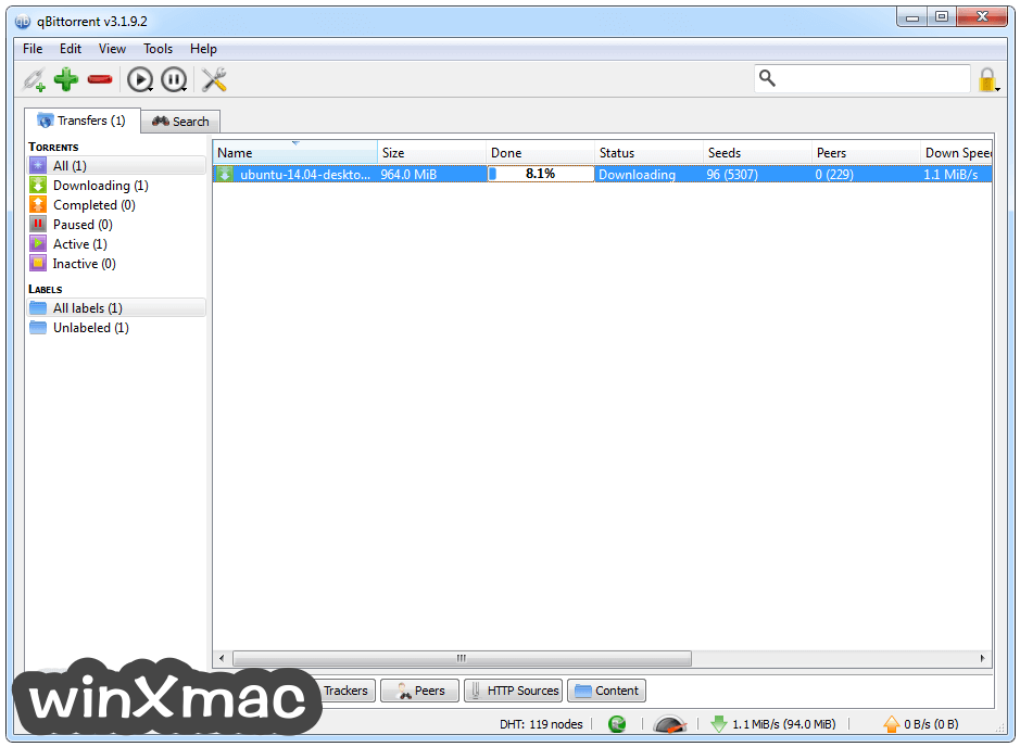 qBittorrent (64-bit) Screenshot 1