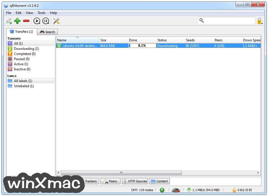 qBittorrent (32-bit) Screenshot 1