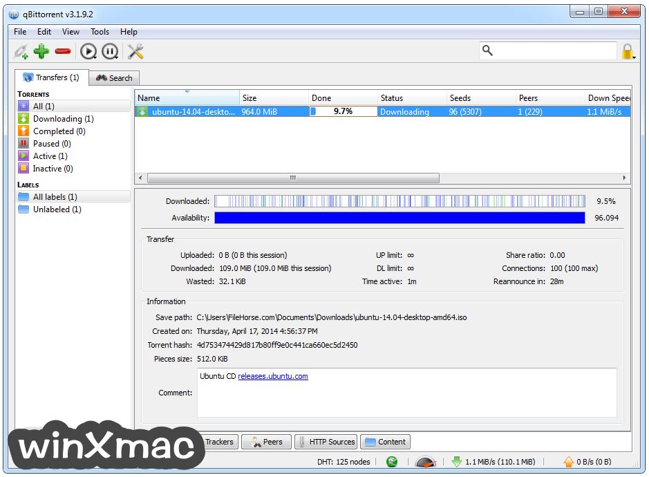 qBittorrent (64-bit) Screenshot 2