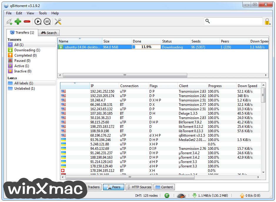 qBittorrent (32-bit) Screenshot 3