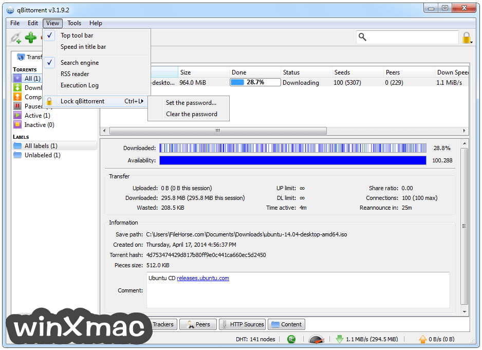 qBittorrent (64-bit) Screenshot 4