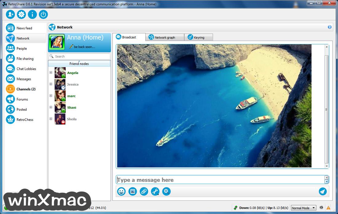 RetroShare Screenshot 1