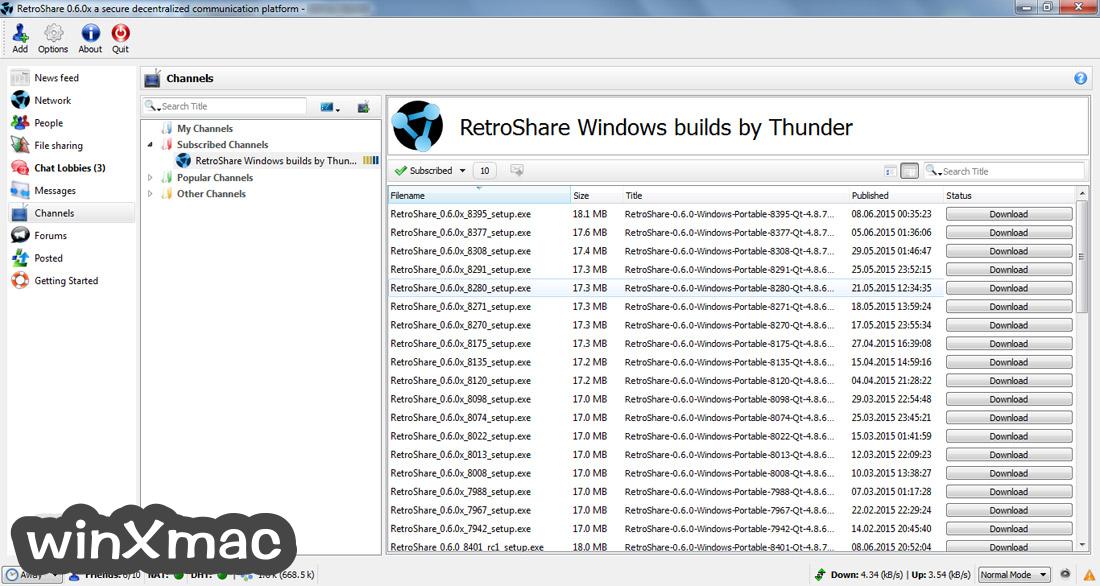 RetroShare Screenshot 3