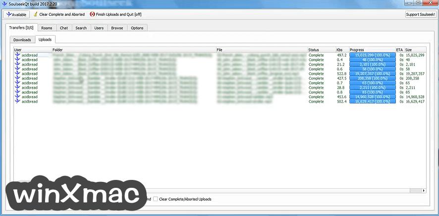 SoulseekQt Screenshot 1
