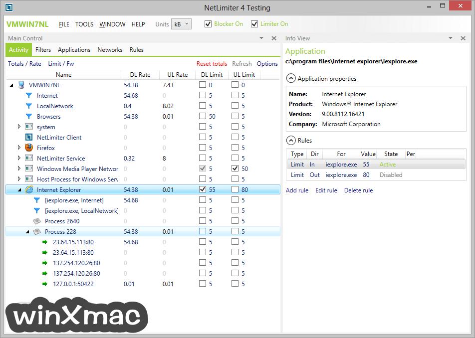 NetLimiter Screenshot 1
