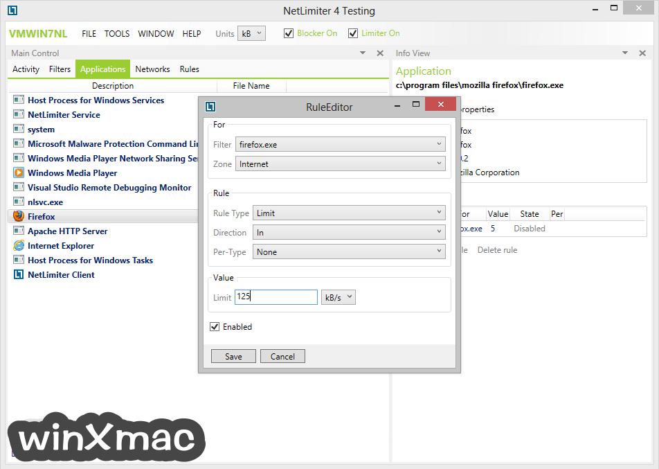 NetLimiter Screenshot 2