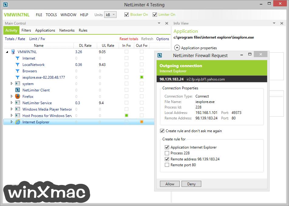 NetLimiter Screenshot 3
