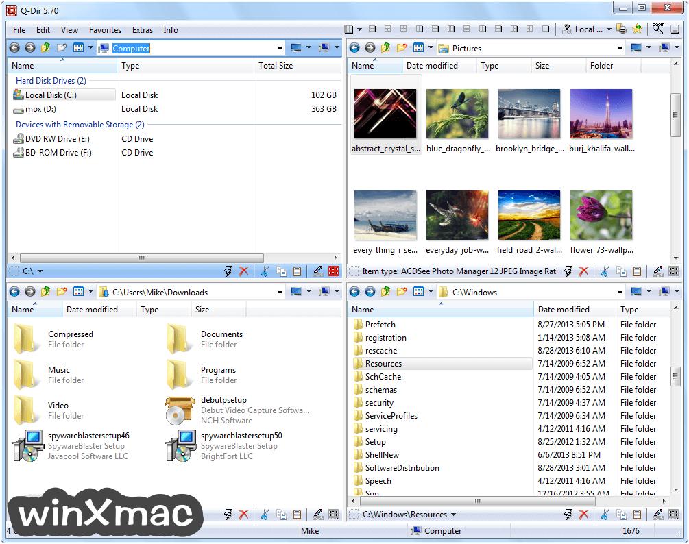 Q-Dir (32-bit) Screenshot 1