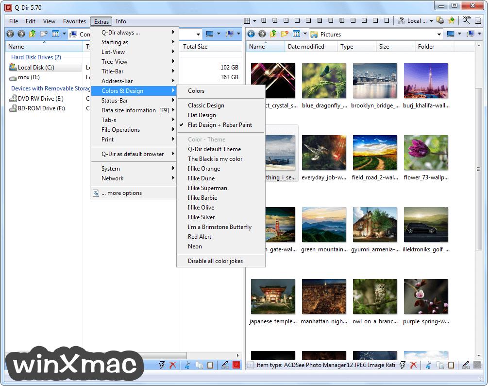 Q-Dir (32-bit) Screenshot 2