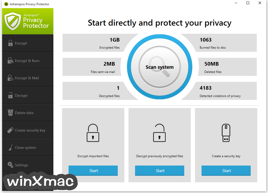 Ashampoo Privacy Protector Screenshot 1