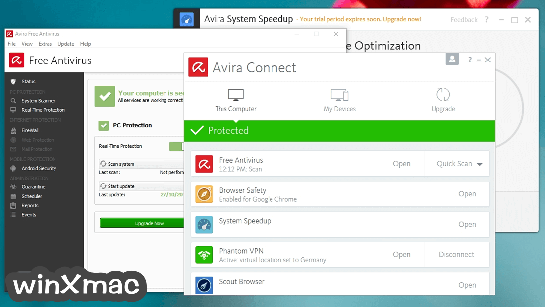 Avira Free Security Suite Screenshot 1