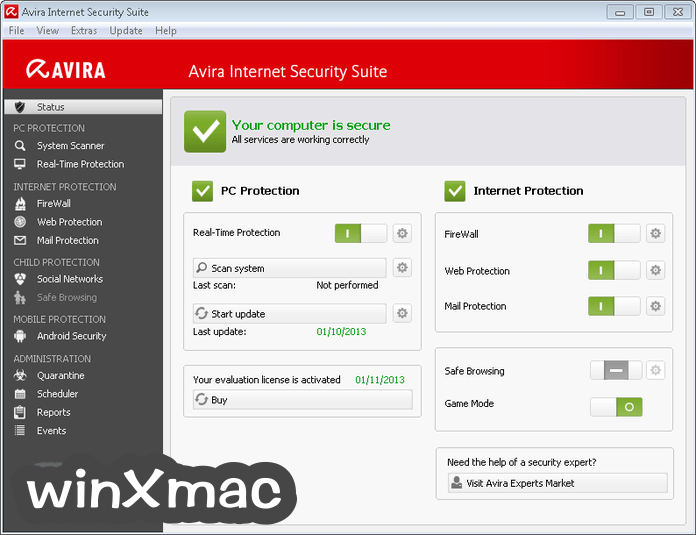 Avira Internet Security Suite Screenshot 1