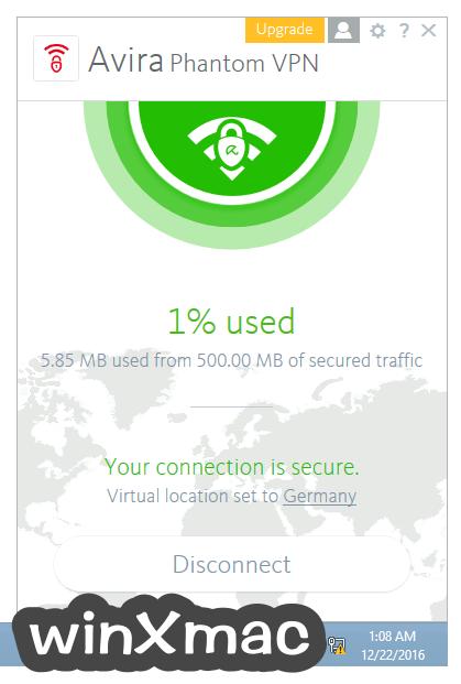 Avira Phantom VPN Screenshot 3