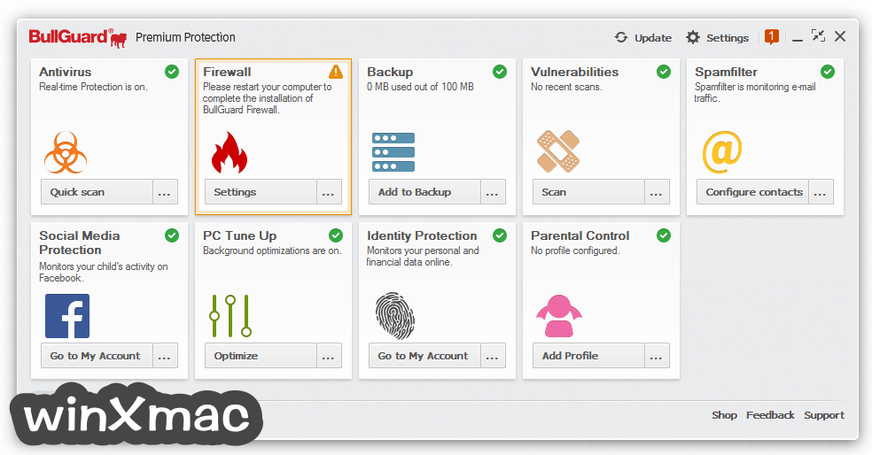 BullGuard Premium Protection Screenshot 1