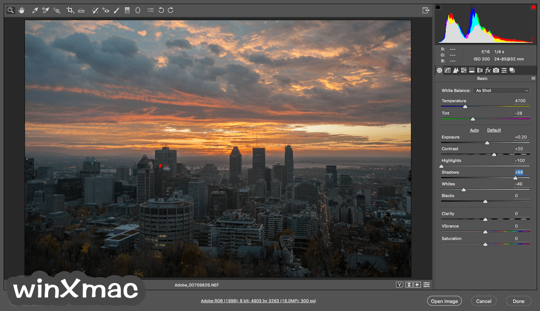 Adobe Camera Raw Screenshot 1