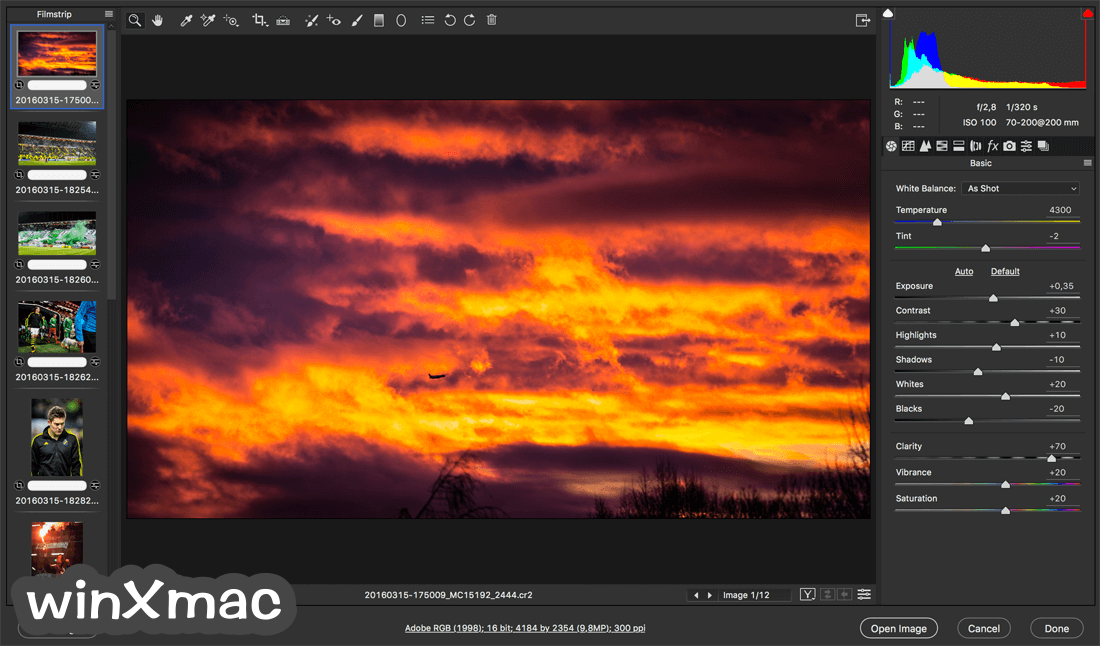 Adobe Camera Raw Screenshot 2