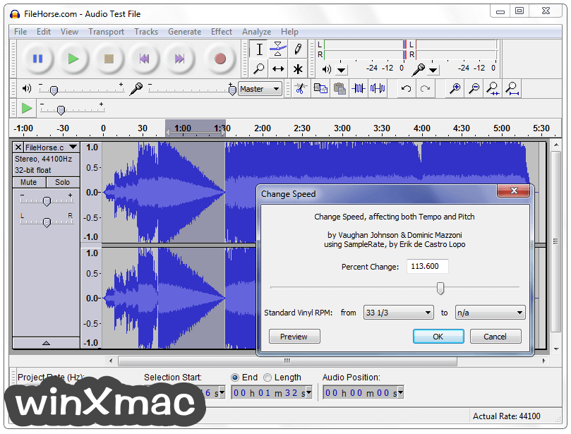 Audacity Screenshot 3