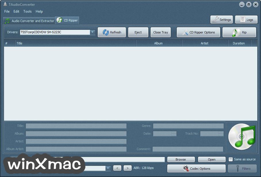 TAudioConverter (32-bit) Screenshot 2