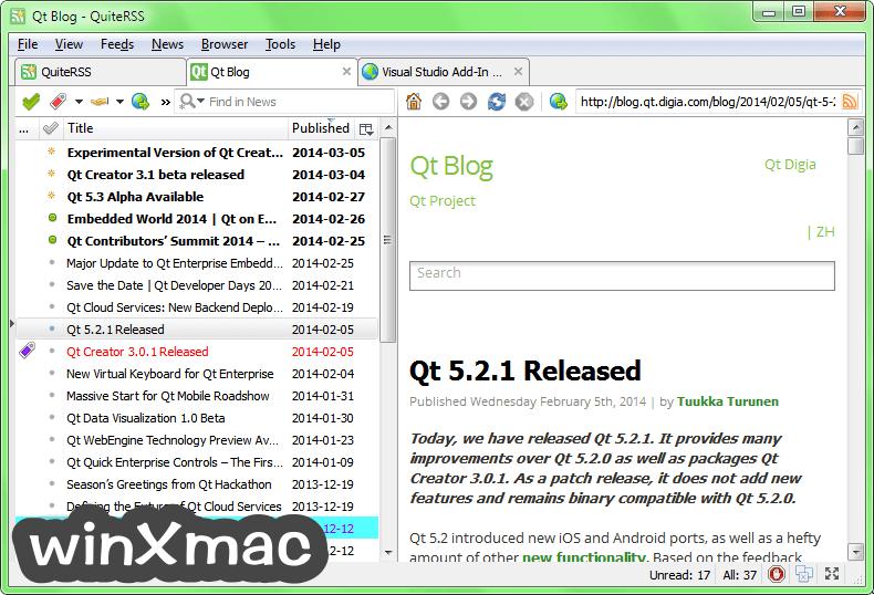 QuiteRSS Screenshot 2