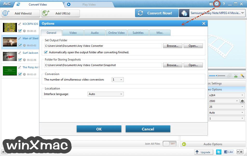 Any Video Converter Free Screenshot 5