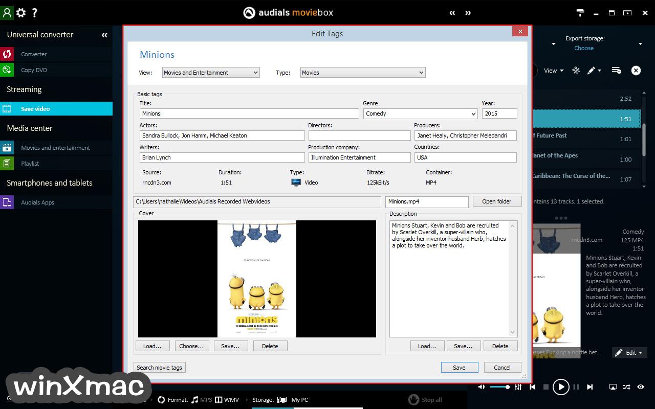 Audials Moviebox Screenshot 2