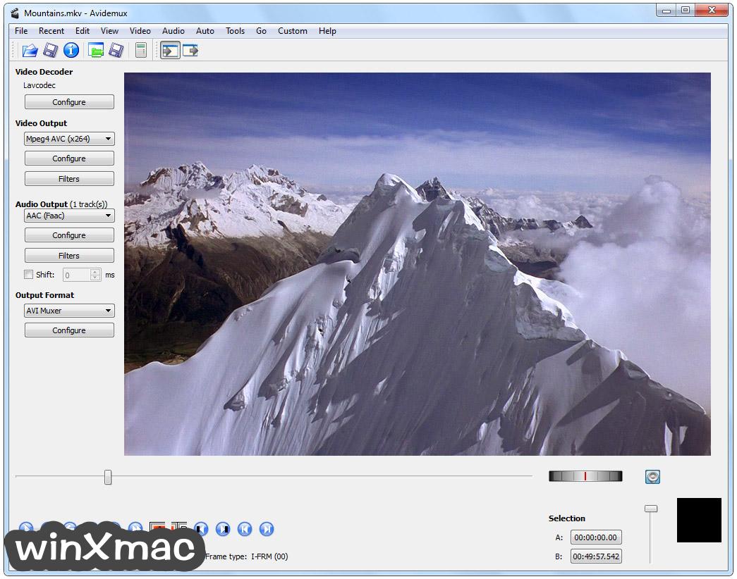 Avidemux (32-bit) Screenshot 1