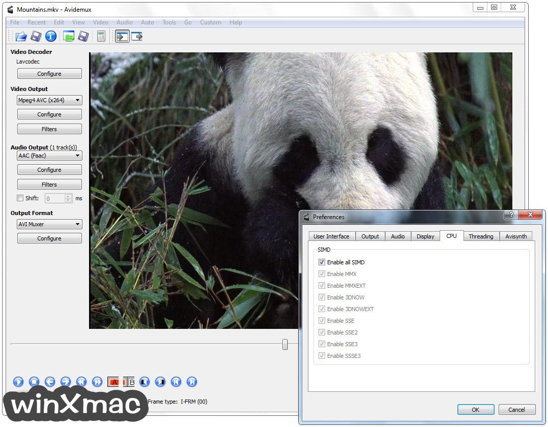 Avidemux (32-bit) Screenshot 5