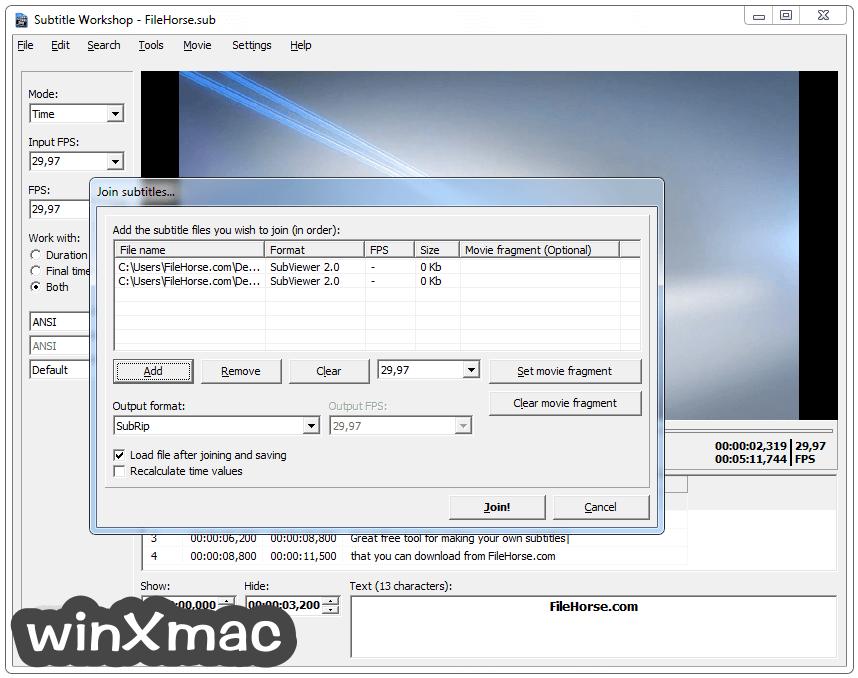 Subtitle Workshop Screenshot 2