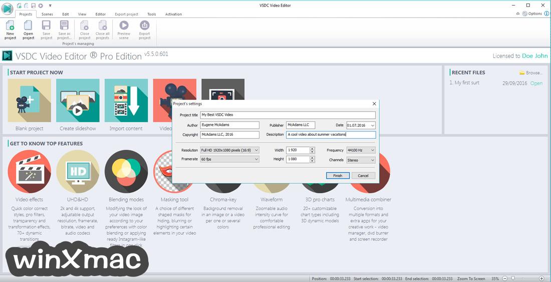 VSDC Free Video Editor (32-bit) Screenshot 2